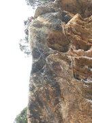 Rock Climbing Photo: Sostre Den Burotet, at the anchors