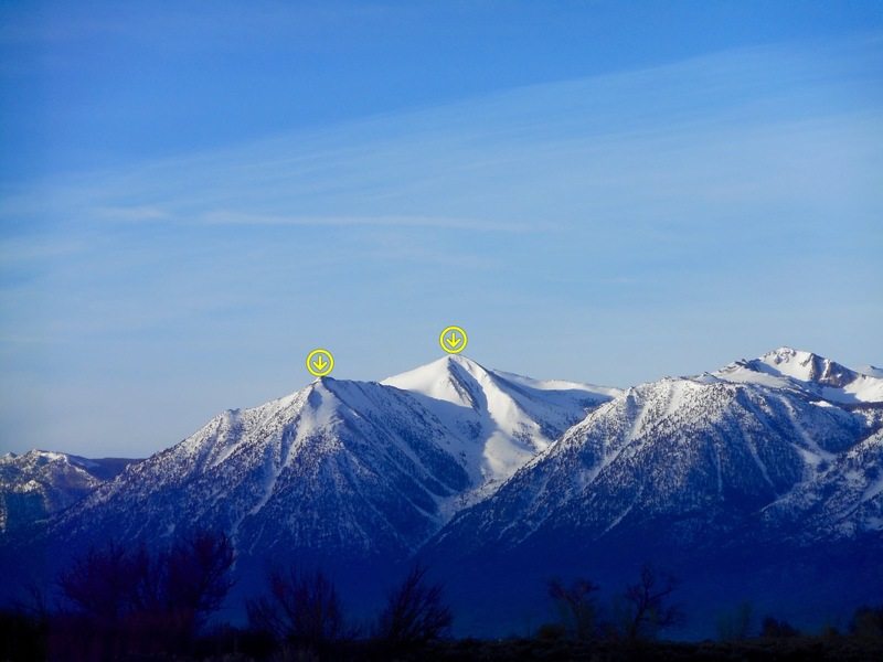 Rock Climbing Photo: Jobs Peak. Photo shows East and West Peak.