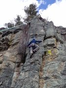 Rock Climbing Photo: Above the crux - finally able to use the amazing e...