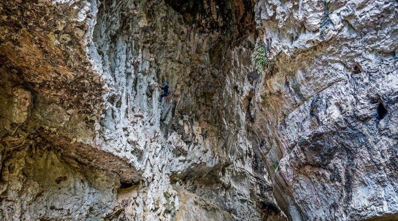Some amazing tufas and overhangs, as well as huge, towering easier routes...