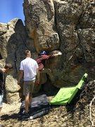 Rock Climbing Photo: Schwab at the fun beginning moves.