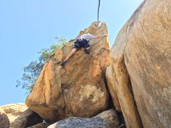 Rock Climbing Photo: Danny Spivy Approaching top out on overhanging buc...