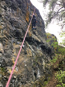 Rock Climbing Photo: Devin on In Search of Frozen Magma.
