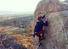 Rock Climbing Photo: Climbing an undeveloped area