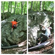 Rock Climbing Photo: Lower right sitting start gives some higher grade ...