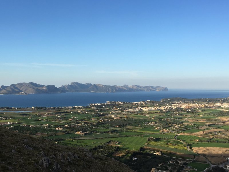 View of Badia de Alcudia from the top of La Mosca