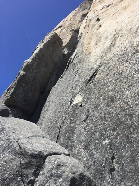 Rock Climbing Photo: Hardings Chimney P1