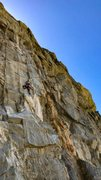 Rock Climbing Photo: Cliff T halfway up House of Pain.