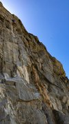 Rock Climbing Photo: Cliff T pulling through the crux on his redpoint o...