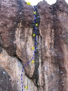 Rock Climbing Photo: Friend of the Devil follows the obvious black stre...