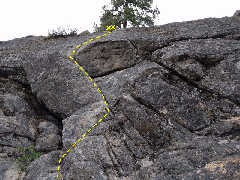 Zap Crack with focus on the bottom half of the route. (Pic taken from the start of the route)