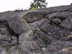 Rock Climbing Photo: Zap Crack with focus on the bottom half of the rou...