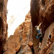 Rock Climbing Photo: bottom portion of the climb