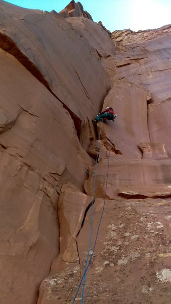 Rock Climbing Photo: Andrea Shotwell getting us started on the first pi...