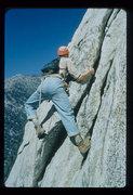 Rock Climbing Photo: John Wedberg climbing at Tahquitz in the 1950'...