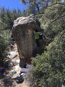 Rock Climbing Photo: Adrian on Bonzai Right Arete.