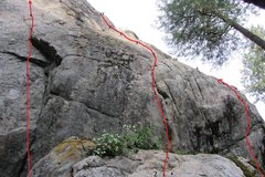 Rock Climbing Photo: Dishonorable Wall- Right side 1) Bad Reputation- 1...