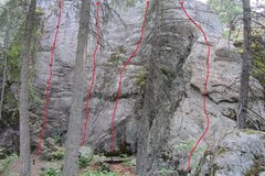 Rock Climbing Photo: Corner Crack- Stolen Monents- 5.81) Quick and Witt...