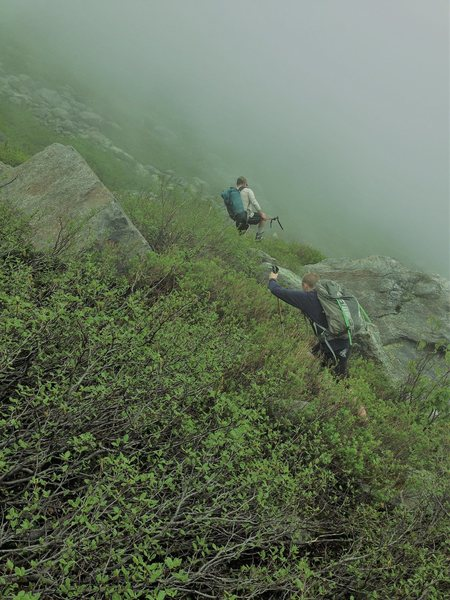 Henderson Ridge approach cloudy conditions June 2014