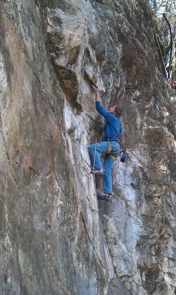 Climber on SCB.