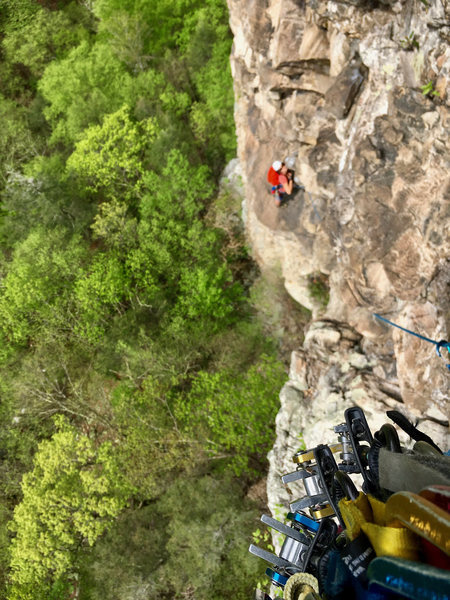 Rock Climbing Photo: Pitch 3 of Simply J Malarky. The crux comes right ...