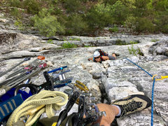 Rock Climbing Photo: Past the crux on Alcoa Presents