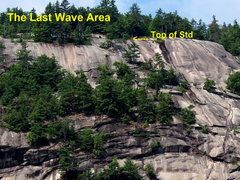 Rock Climbing Photo: Showing General Location of Last Wave area
