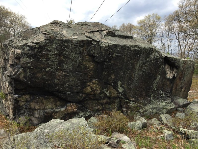 The East side of the boulder.