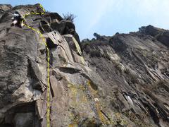Rock Climbing Photo: Armando Dattoli climbing Unknown (Alternate Finish...