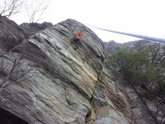Rock Climbing Photo: The corner just to the right of the climber is Pic...