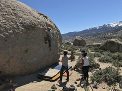 Rock Climbing Photo: A friend working the top of King Tut on April 30th...