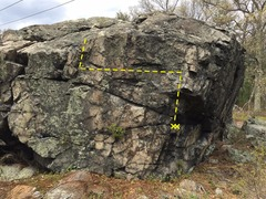 The SE face of the boulder.