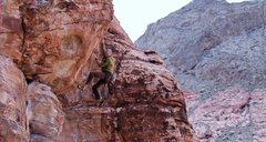 Rock Climbing Photo: mike b above the crux
