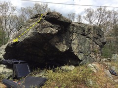 The South side of the boulder.