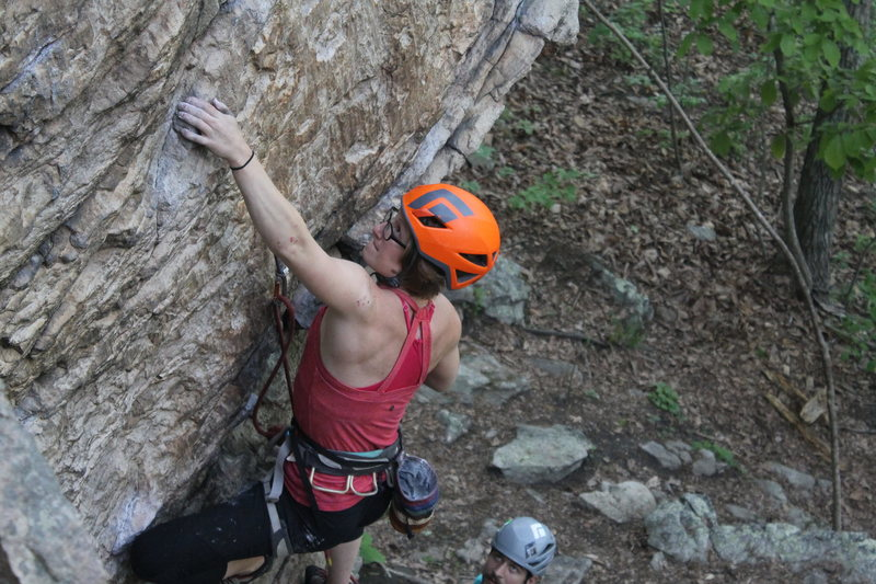 Sarah Stahl puts up an early 2017 summer ascent