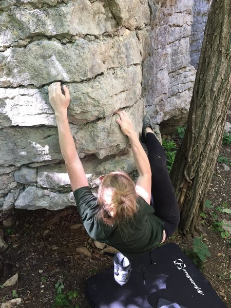 Brittany Greene on the first ascent.