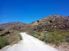 Rock Climbing Photo: The view towards the climbing, Box Springs Mountai...