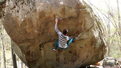 Rock Climbing Photo: Getting through the opening moves on The Decomposi...