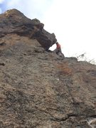 Rock Climbing Photo: Mike Lewis on the first bolted ascent and at the a...