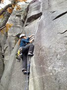 Rock Climbing Photo: KP on Shredded