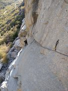 Rock Climbing Photo: Looking back on the technical traversing of pitch ...