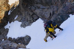 Rock Climbing Photo: Midway up the couloir.