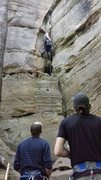 Rock Climbing Photo: Super fun start, but the cool air had a swarm of m...