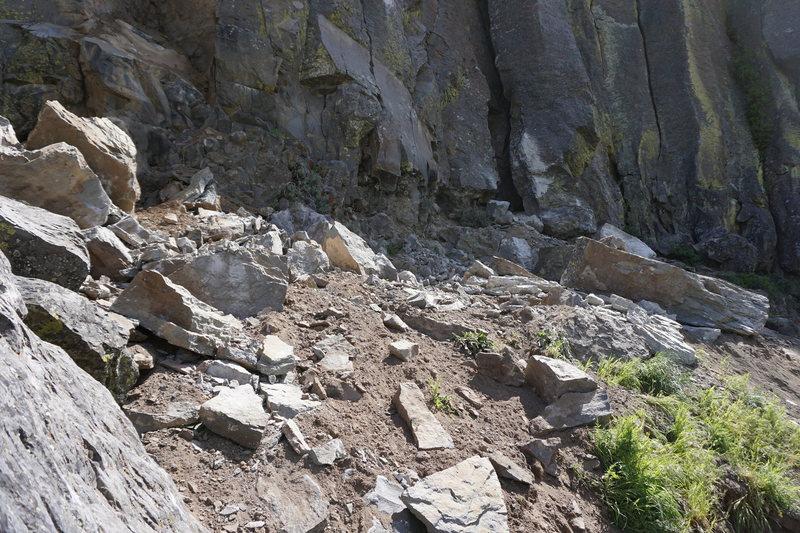 Cliff base