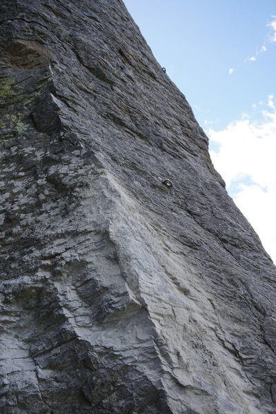 Rock Climbing Photo: Scarring on Thriller Pillar.  The boulder that use...