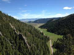 Rock Climbing Photo: The road going into Rattler Gulch