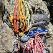 Rock Climbing Photo: Knot rack