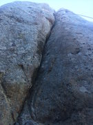 Rock Climbing Photo: From the bottom of the route right after its clean...