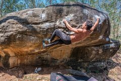 Rock Climbing Photo: V6 at Gate Keeper Boulder
