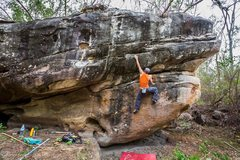 Rock Climbing Photo: Monster in the forest boulder